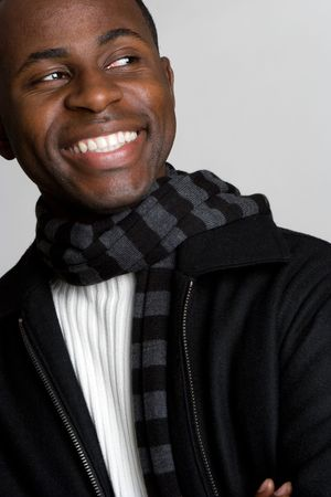 Happy Black Man photo