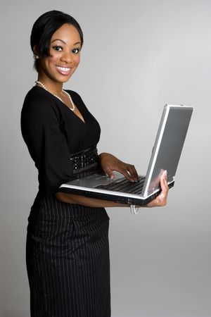 african american businesswoman: Beautiful Laptop Woman