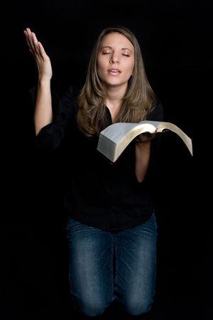 worshipping: Young Woman Praying