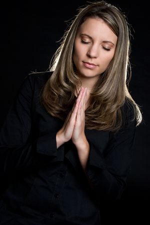 Woman Praying Stock Photo - 4194801