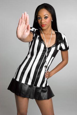 arbitro: African American �rbitro Foto de archivo