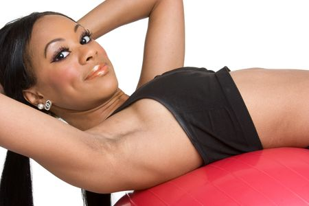 Black Woman Exercising Stock Photo - 4222482