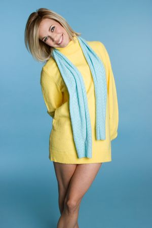 Smiling Sweater Girl Stock Photo - 4218706