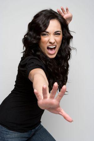 Crazy Woman Stock Photo