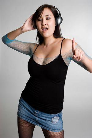 korean ethnicity: Woman Wearing Headphones