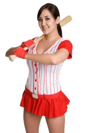 Asian Baseball Player photo