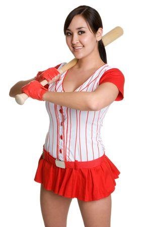 Asian Baseball Player Stock Photo