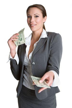 Businesswoman Giving Money Stock Photo - 4264989