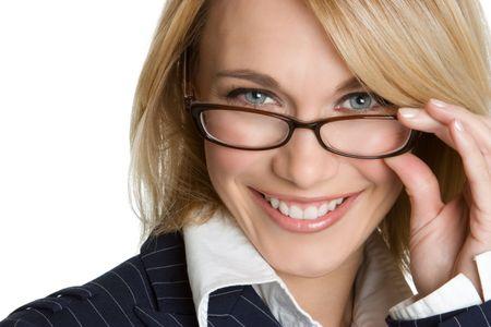 occhiali da vista: Businesswoman indossare occhiali