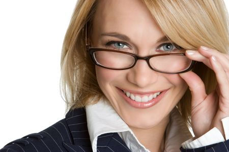 Businesswoman Wearing Glasses Stock Photo - 4282549