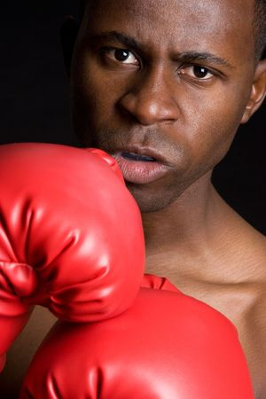 Angry Teenage Boxer Stock Photo - 4282559