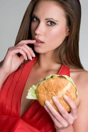 Sexy Hamburger Woman Stock Photo - 4282577
