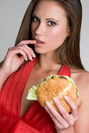 Sexy Hamburger Woman
