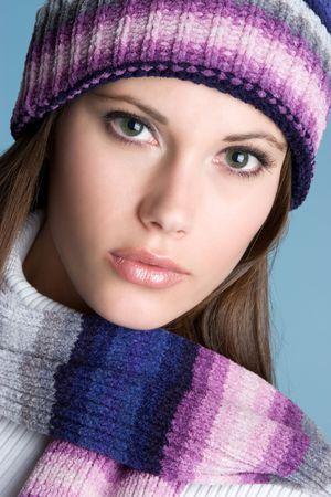 Closeup of Winter Woman Stock Photo - 4303459