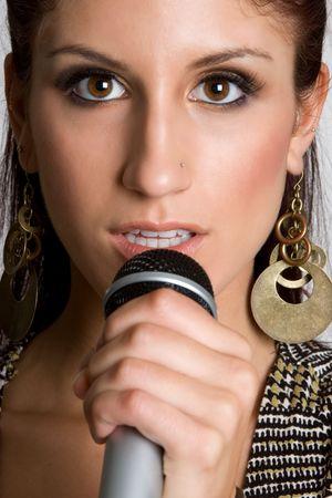 rockstars: Closeup of Singing Teenager Stock Photo