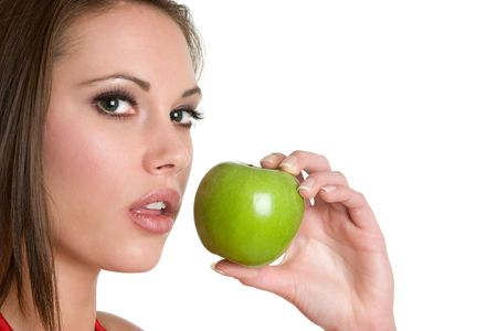 Woman Eating Apple Stock Photo - 4292245