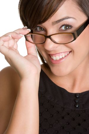 Smiling Woman Wearing Glasses Stock Photo - 4303489