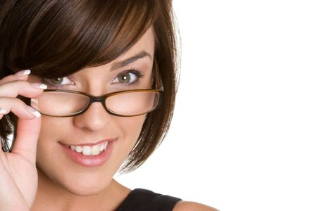 wearing glasses: Girl Wearing Glasses