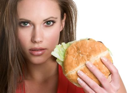 Burger Girl Stock Photo - 4312952