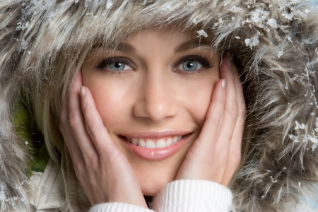 winter jacket: Winter Girl Stock Photo