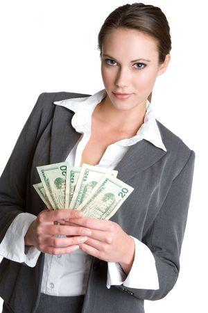 Woman Holding Money Stock Photo - 4325061