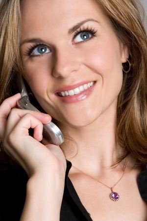 Beautiful Woman on Phone Stock Photo - 4359441