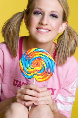Girl With Lollipop Stock Photo - 4359445