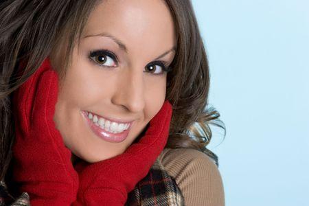 Girl Wearing Winter Gloves Stock Photo - 4376530