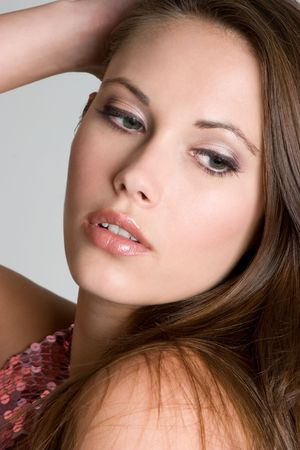 Closeup of Gorgeous Model Stock Photo - 4376538
