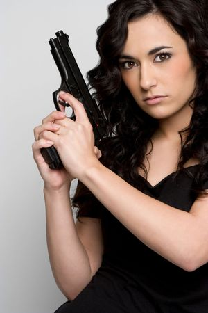 Woman With Gun Stock Photo - 4367270