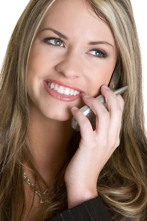 Smiling Phone Businesswoman Stock Photo - 4367272