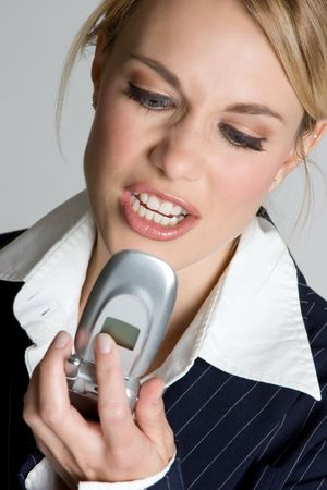 Upset Phone Woman Stock Photo - 4396982