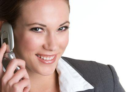 Happy Phone Businesswoman Stock Photo - 4376552