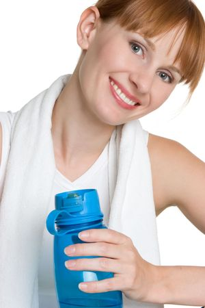 Woman With Water Bottle Stock Photo - 4396978