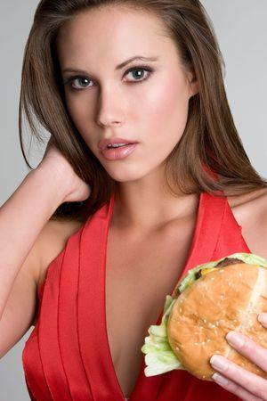 adult sandwich: Gorgeous Burger Woman