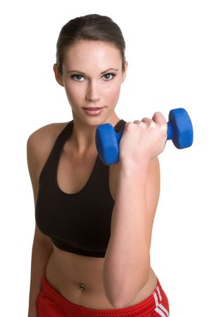 dumbell: Fitness Woman Stock Photo