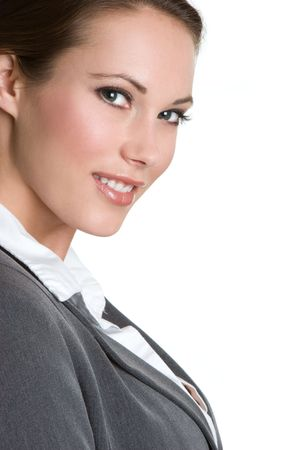 Zakenvrouw Lachend Stockfoto
