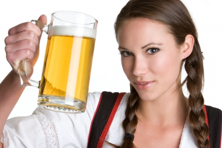 Pretty Woman With Beer Stock Photo - 4396967