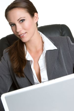 Computer Woman Stock Photo - 4404676