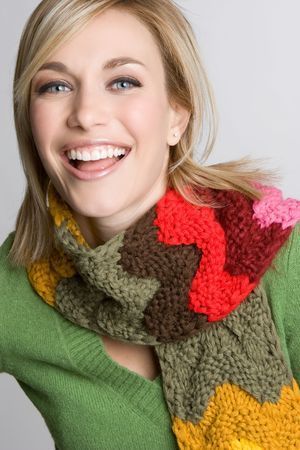 Laughing Scarf Girl Stock Photo - 4397032