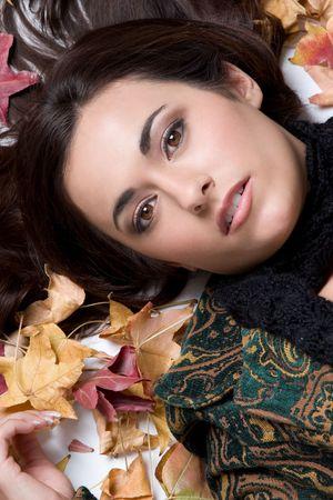 Herbst-Girl Standard-Bild - 4397036