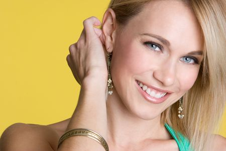 Smiling Blond Woman Stock Photo - 4413783
