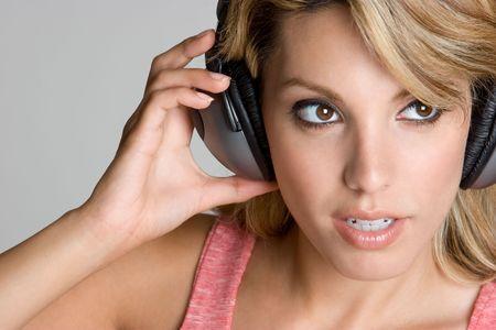 Woman Wearing Headphones Stock Photo - 4413772