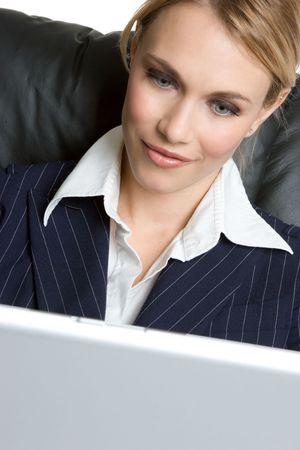 Laptop Businesswoman Stock Photo - 4439098