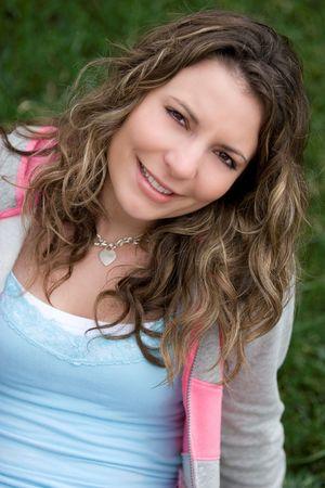 Beautiful Smiling Girl Stock Photo - 4439107