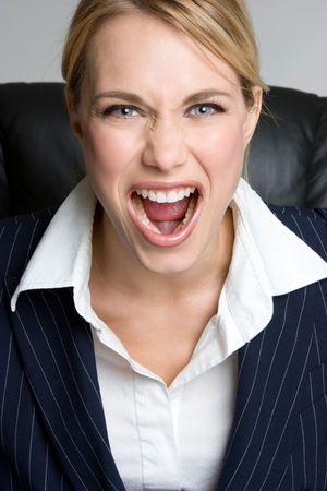 Yelling Businesswoman Stock Photo - 4439116