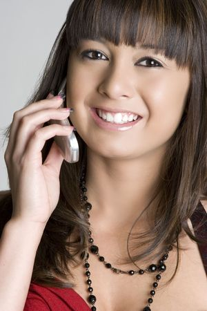 Asian Cell Phone Girl Stock Photo - 4463317