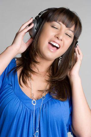 Asian Headphones Girl Stock Photo - 4463322