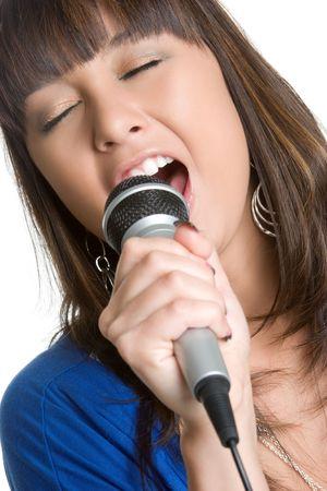 Singing Asian Girl Stock Photo - 4463321