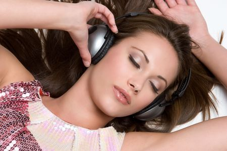 Music Listening Girl Stock Photo - 4439120